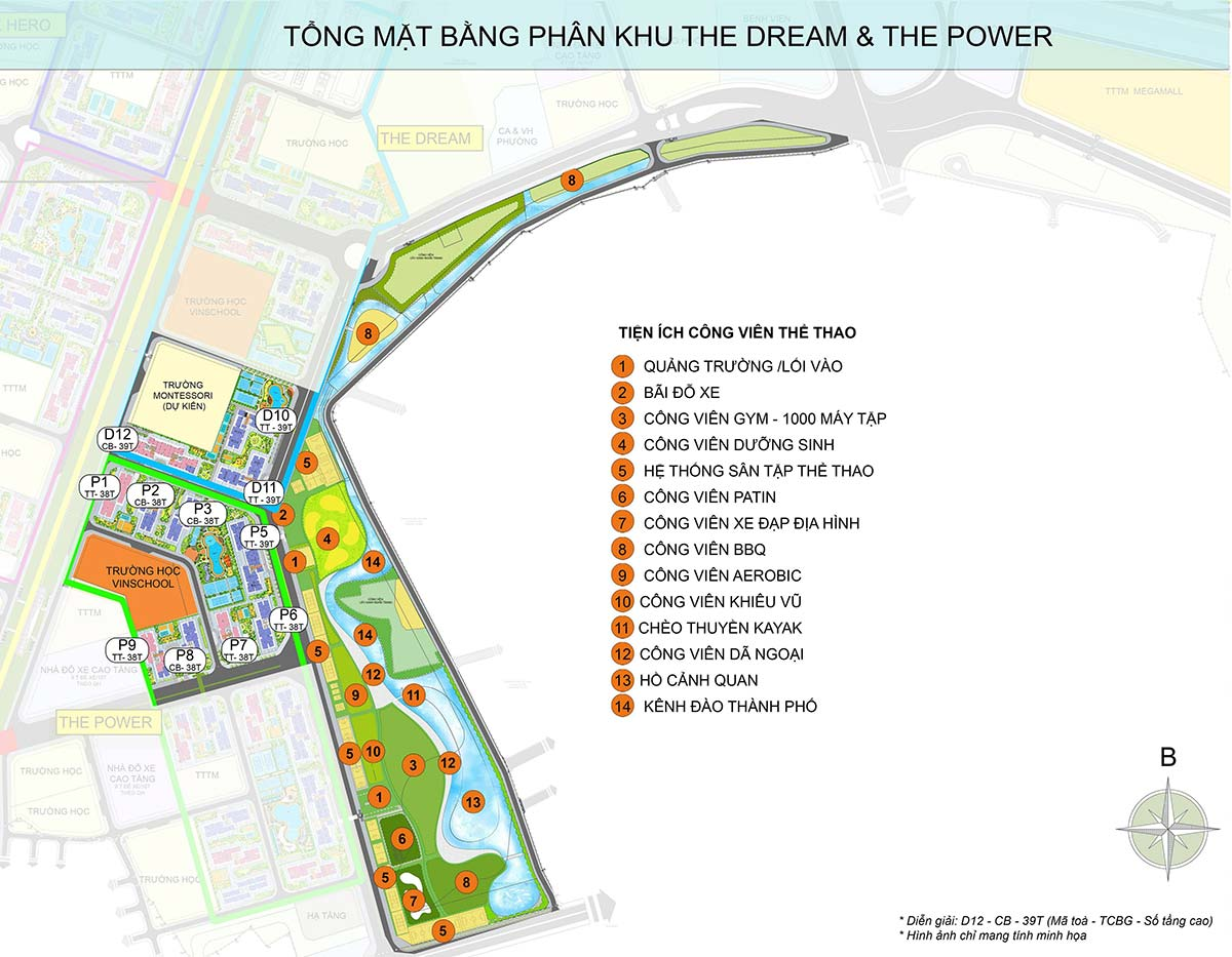 tổng quan mặt bằng the dream the power